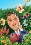 Digital illustration of allergy man by John Walker.