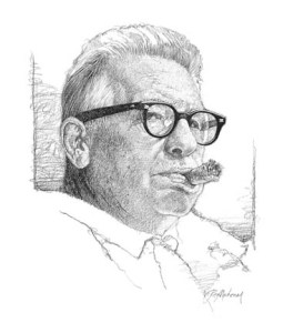 Art Rooney Sr. illustration by Ron Mahoney.