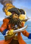 Digital Blackbeard illustration by John Walker.