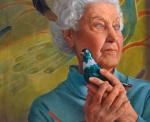 Woman & Bluebird illustration by John Walker.