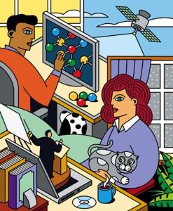 Stylized CMU illustration by Ron Magnes.