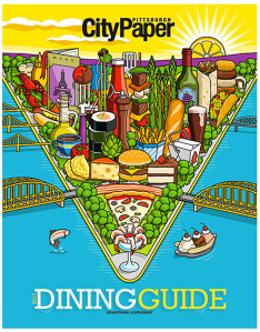Dining Guide cover illustration by Ron Magnes.