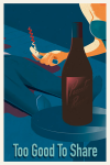 Digital fine wine illustration by Bob Scott.