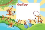 Fox Play children's illustration by Peter Grosshauser.