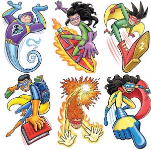 Kids icon illustrations by Larry Jones.