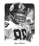 Lynn Swann illustration by Ron Mahoney.