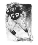 Mike Webster illustration by Ron Mahoney.