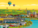 Digital Pittsburgh Northshore illustration by Ron Magnes.
