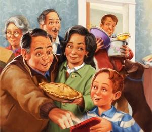 Digital family illustration by John Walker.