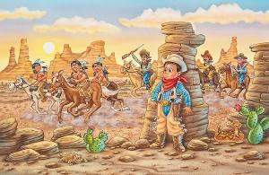 Children's book illustration by Phil Wilson.