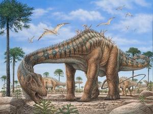 Airbrush dinosaur scene by Phil Wilson.