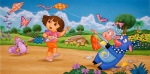 Dora illustration for children's project by Phil Wilson.