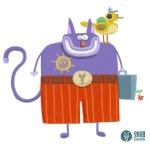 Digital cat icon illustration by Shahab Shamshirsaz.