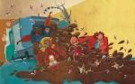 Digital children's illustration by Peter Grosshauser.