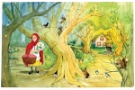 Little Red Riding Hood illustration by Carol Newsom.