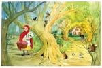 Little Red Riding Hood illustration by Carol Newsom.