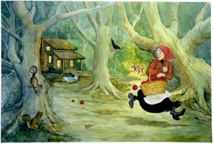 Snow White children's illustration by Carol Newsom.