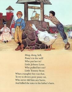 Wishing Well illustration for children's book by Carol Newsom.