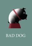 Bad Dog greeting card illustration by George Schill.