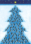 Penguins tree illustration by George Schill.