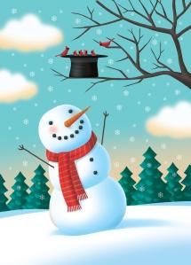 Snowman Hat Nest illustration by George Schill.