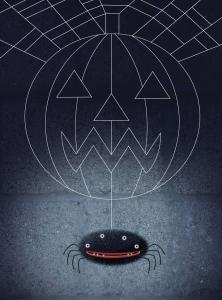 Halloween spider web illustration by George Schill.