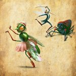 Insect party illustration by Eugene Vinitski