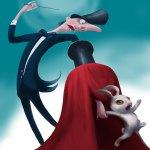 Magic trick illustration by Eugene Vinitski.