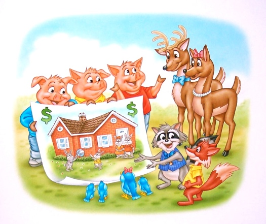 pigs showing poster of home